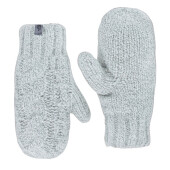 W Cable Knit Mitt